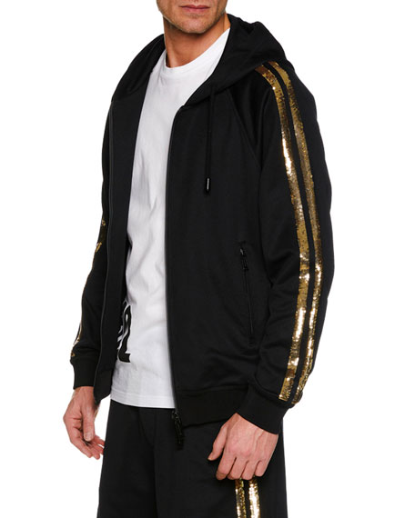 Men's Metallic Side-Stripe Track Jacket
