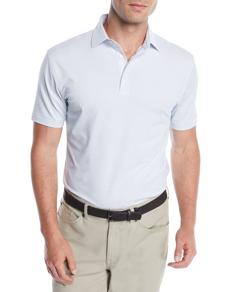 Peter Millar Men's Halford Stripe Jersey Polo Shirt