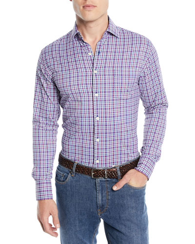 Men's Ramsey Performance Check Sport Shirt
