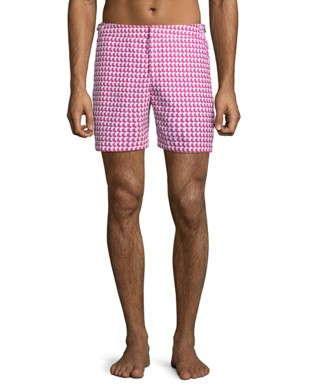 Orlebar Brown Men's Bulldog Aruba Printed Swim Trunks