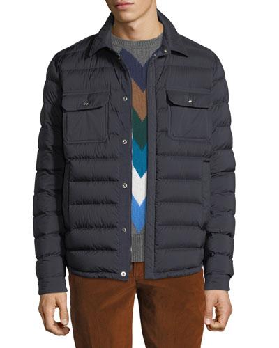 Men's Caph Snap-Front Puffer Jacket