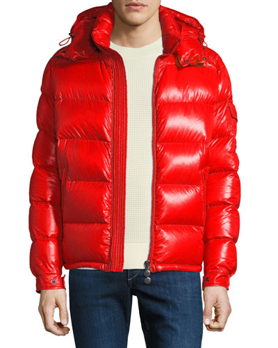 Men's Maya Shiny Down Puffer Jacket with Hood