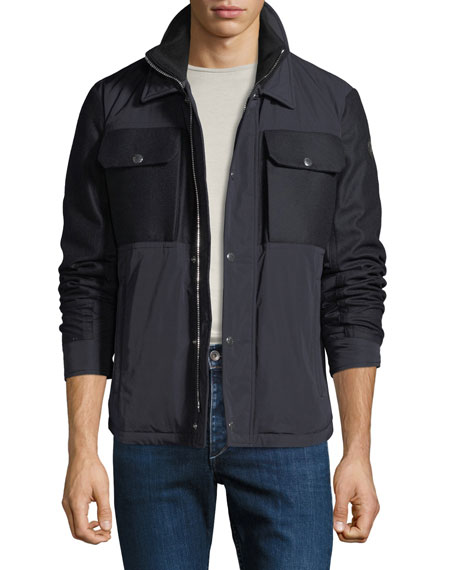 Men's Beaufort Zip-Front Utility Jacket