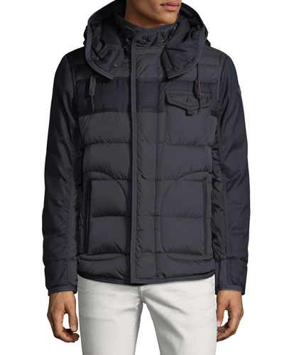 moncler black coat mens