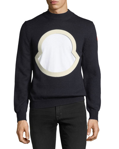 Moncler Men's Graphic-Front Wool Sweatshirt