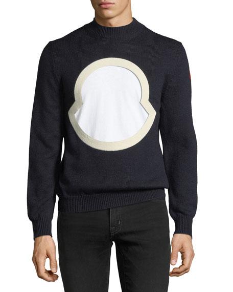 Men's Graphic-Front Wool Sweatshirt