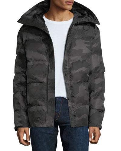Men's Sebastien Camo Zip-Front Puffer Jacket