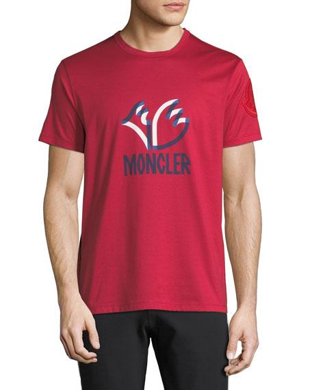 Moncler Men's Felted Logo Graphic T-Shirt