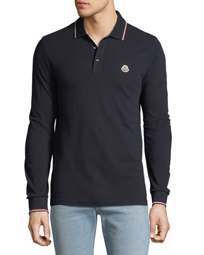 Moncler Men\u0027s Long-Sleeve Polo Sweater