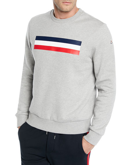 Moncler Men's Logo Graphic Pullover Sweatshirt