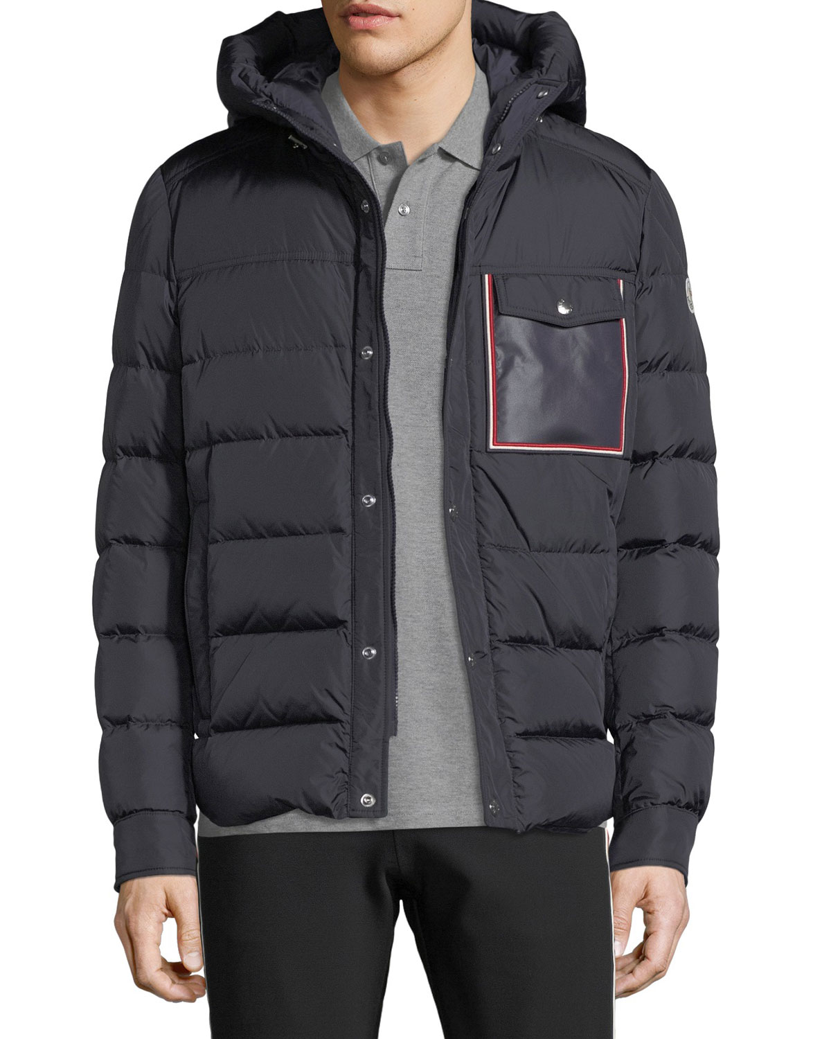 8138d1a204ea Moncler Men s Prevot Hooded Puffer Jacket with Pocket