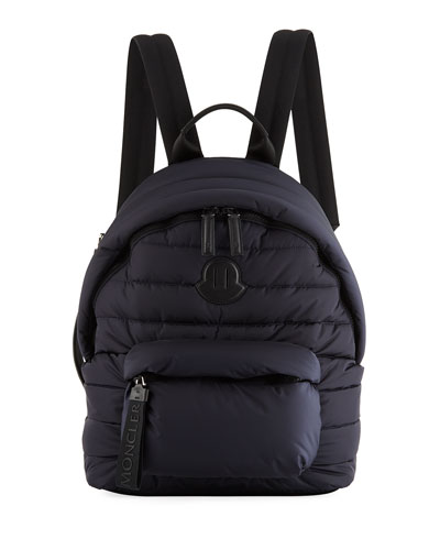 Men's Dolomites Quilted Nylon Backpack, Navy
