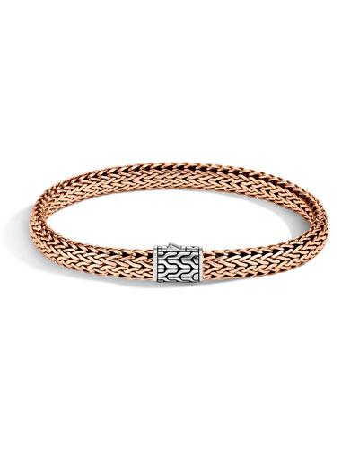 Men's Bronze & Silver Classic Chain Bracelet