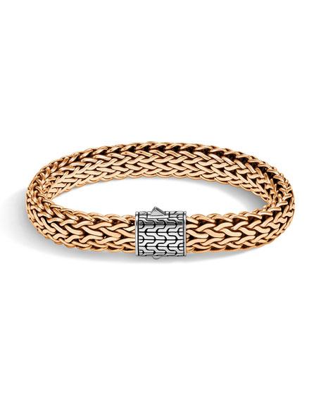 Men's Classic Chain Bracelet w/ Bronze, Size M