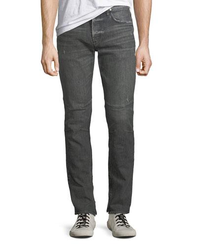 Men's Vaughn Distressed Skinny Ankle-Zip Jeans, Kingpin