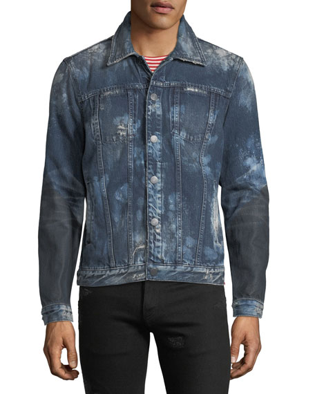 Men's Donovan Distressed Denim Jacket