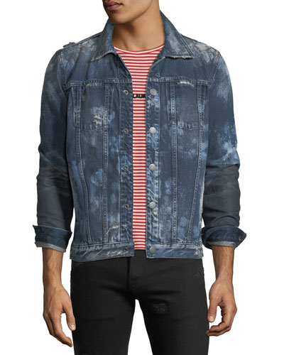 Men's Donovan Distressed Denim Jacket
