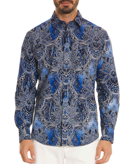 Men's Rivero Classic Fit Graphic-Print Sport Shirt