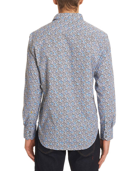 Men's Oakes Classic Fit Graphic-Print Sport Shirt