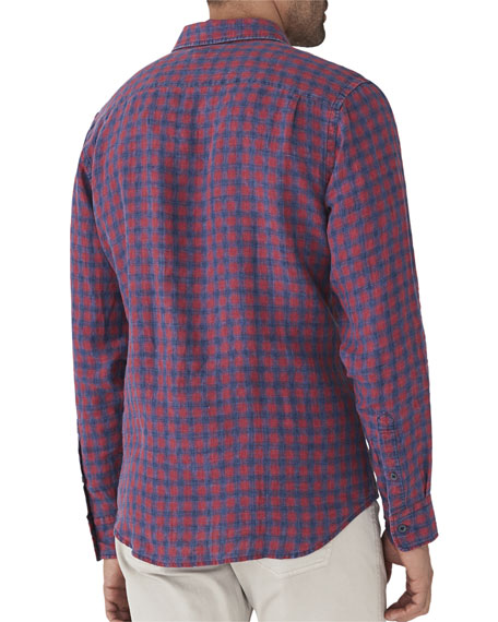 Men's Ventura Linen Plaid Shirt