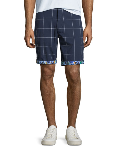 Men's Bounties Windowpane Seersucker Shorts
