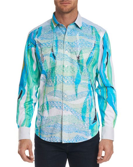 Men's The Merman Limited Edition Aqua Classic Fit Sport Shirt