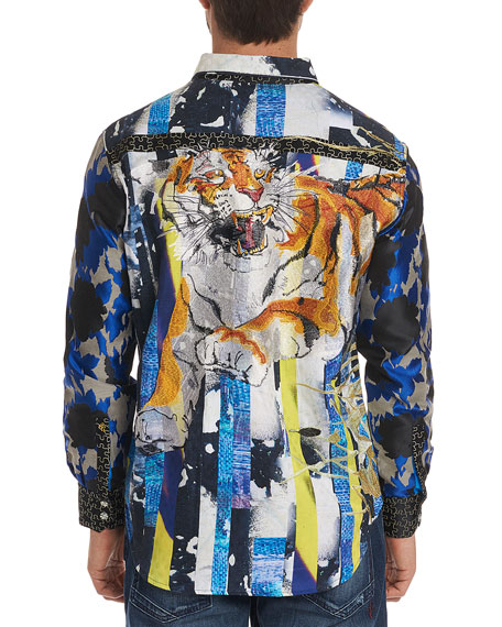 Men's Limited Edition Fear The Tiger Classic Fit Graphic Sport Shirt