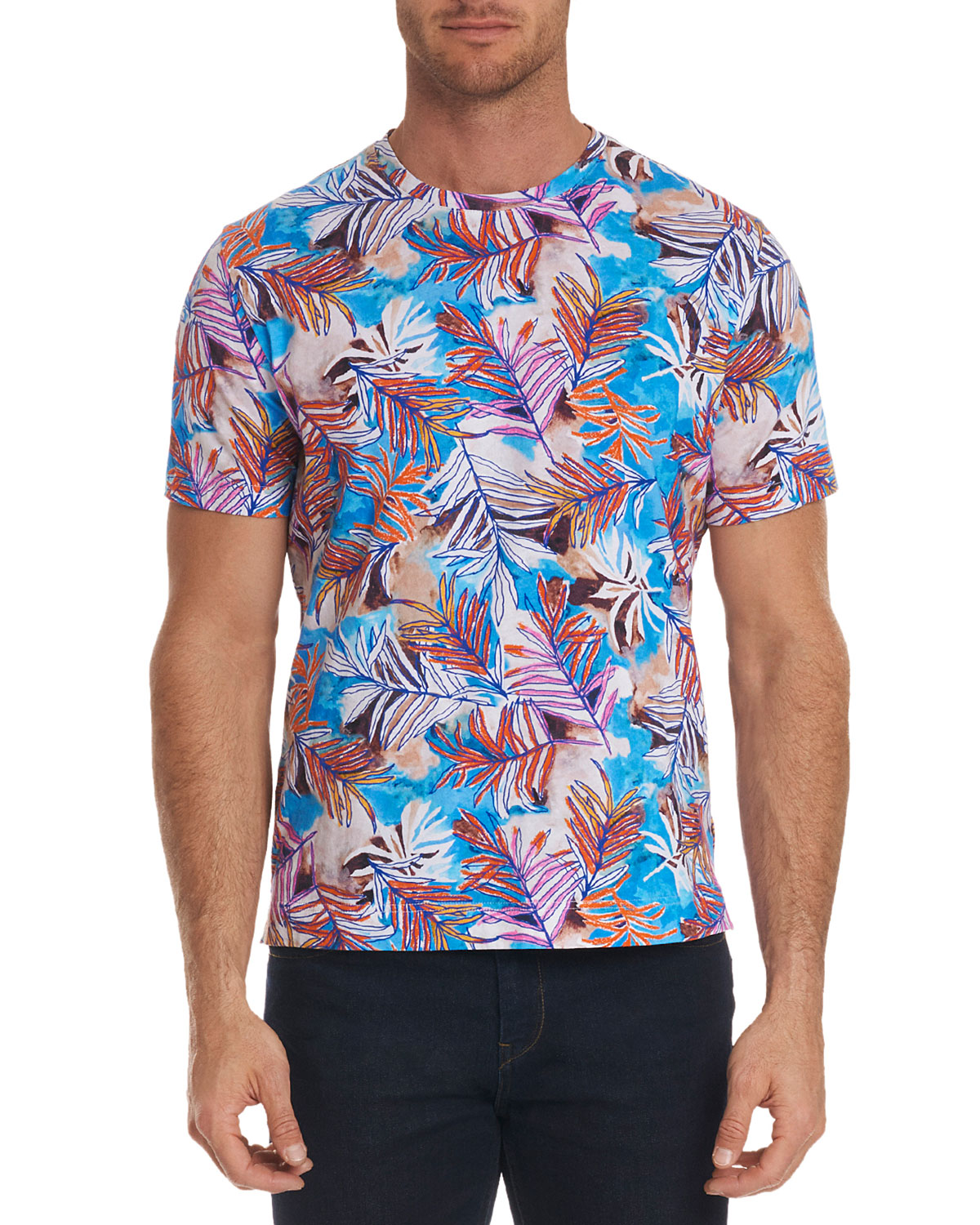 Robert Graham Mens Freshwater Graphic Print T Shirt Neiman Marcus