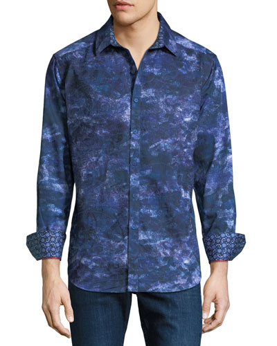 Limited Edition Classic Fit Camo-Printed Sport Shirt