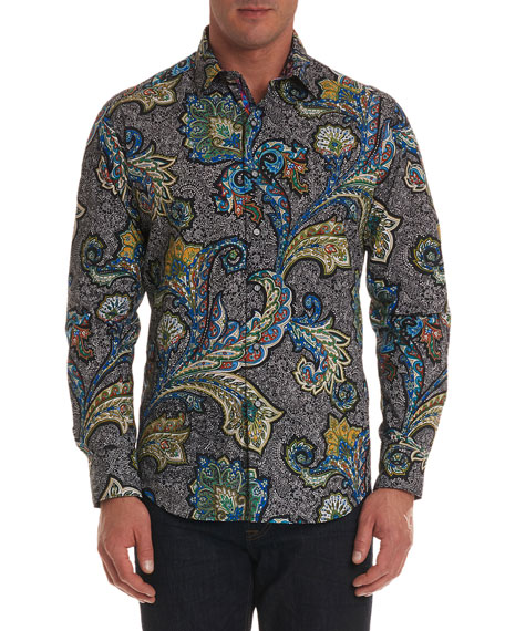 Men's Sea Dragon Classic Fit Paisley Sport Shirt