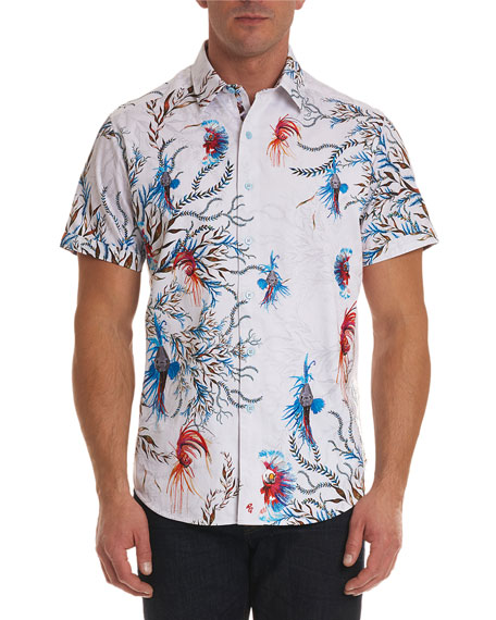 Robert Graham Deep Sea Short-Sleeve Sport Shirt