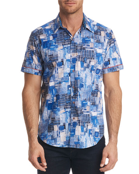Robert Graham Men's Canberra Classic Fit Graphic Short-Sleeve
