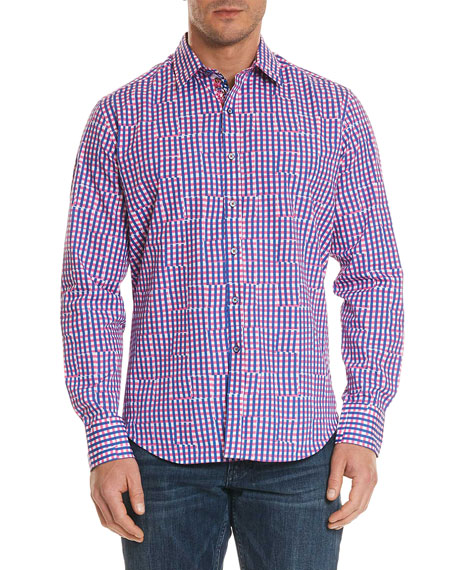 Men's Perez Classic Fit Broken Gingham Sport Shirt