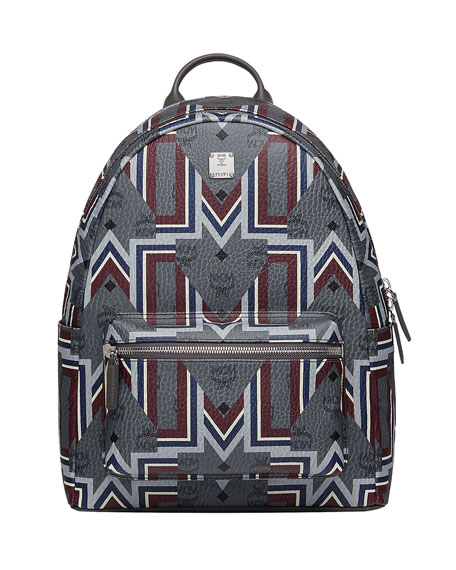 MCM Men's Stark Gunta Medium Visetos Backpack