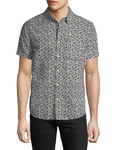 Men's Nash Floral-Print Short-Sleeve Sport Shirt