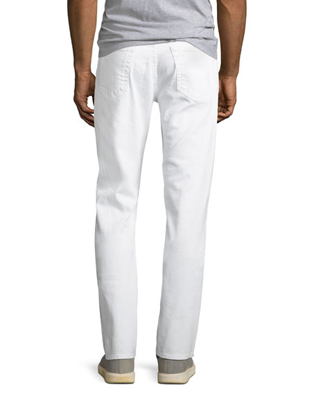 Men's Everett Slim-Straight Jeans in White