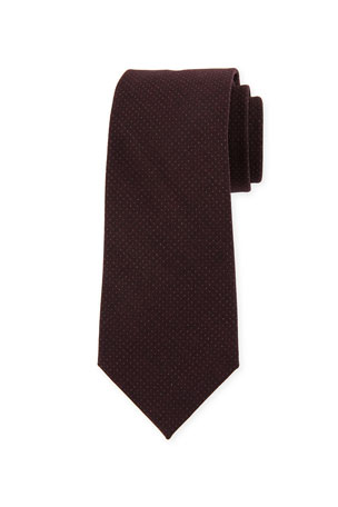 Brunello Cucinelli Tonal-Dot Wool Tie