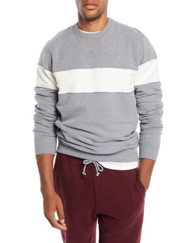 Men's Chest-Stripe Sweatshirt