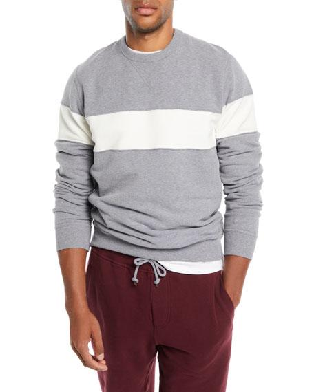 Brunello Cucinelli Men's Chest-Stripe Sweatshirt