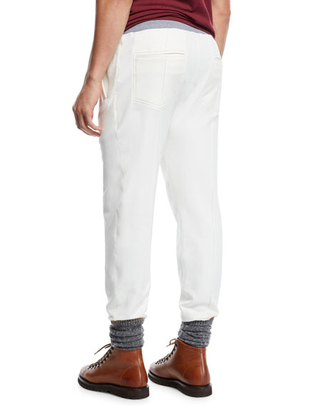 Men's Drawstring Spa Sweatpants with Front Crease