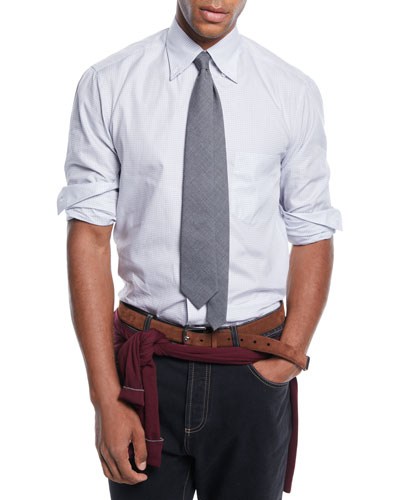 Men's Check Button-Down Shirt