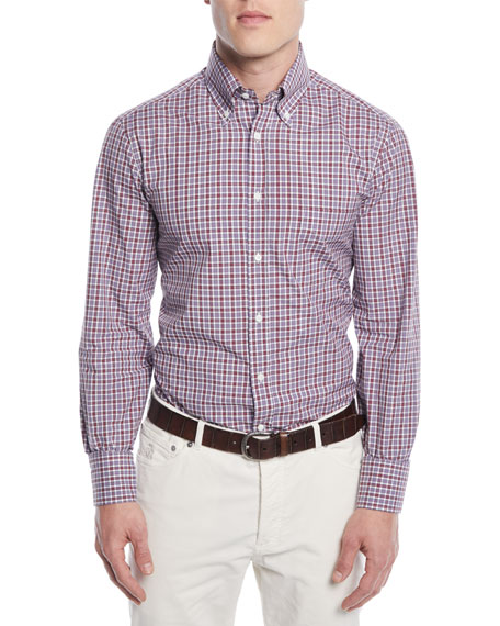 Men's Micro-Check Sport Shirt