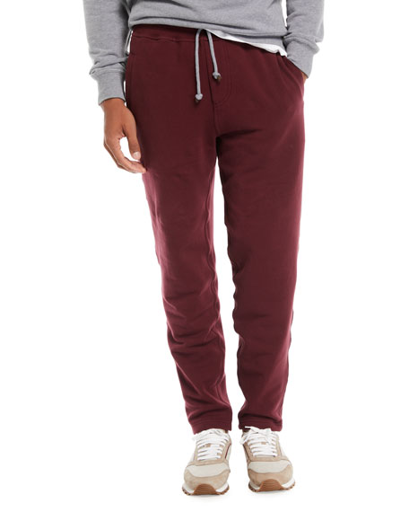Brunello Cucinelli Men's Cotton-Blend Drawstring Sweatpants