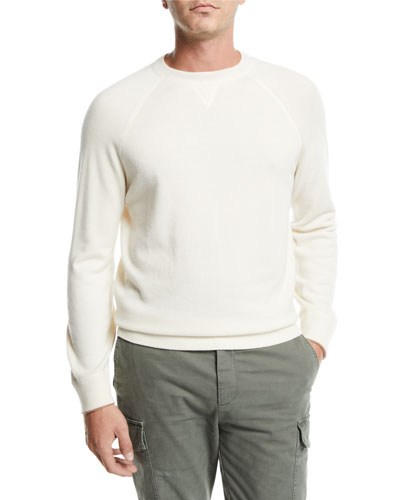 Men's Athletic Wool/Cashmere Crewneck Sweater