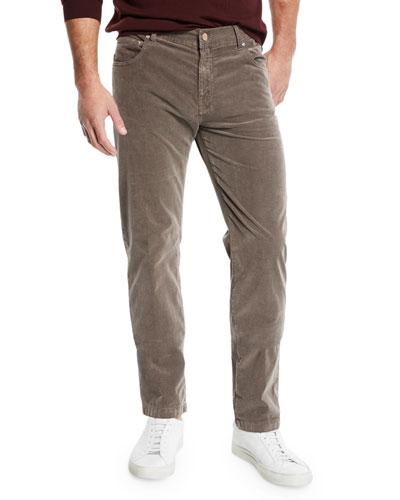 Men's 5-Pocket Straight-Leg Corduroy Pants