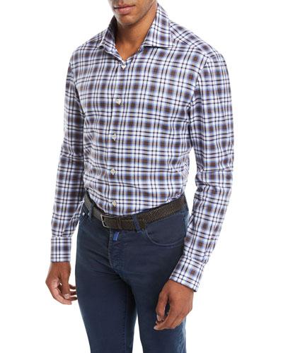 Men's Large-Check Cotton Shirt