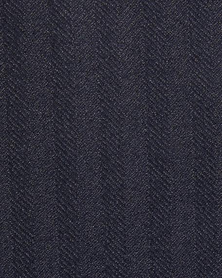 Men's Striped Herringbone Two-Button Jacket