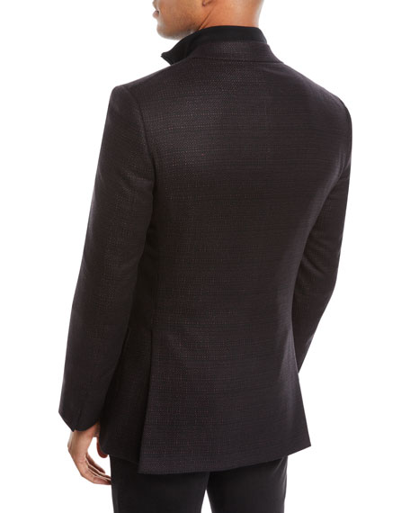 Men's Tic Cashmere Two-Button Blazer Jacket