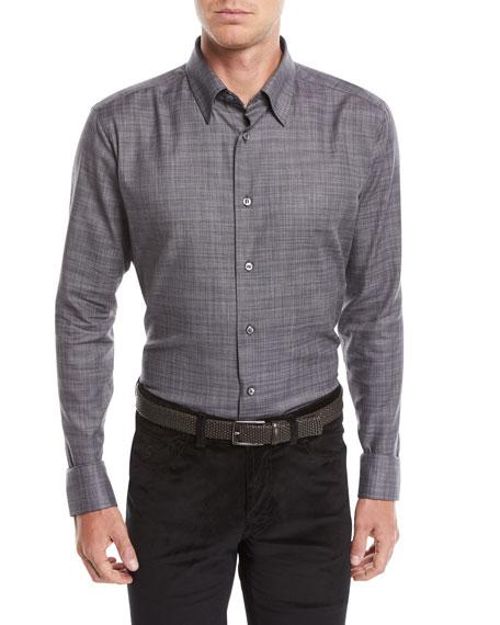 Men's Heathered Cotton Shirt