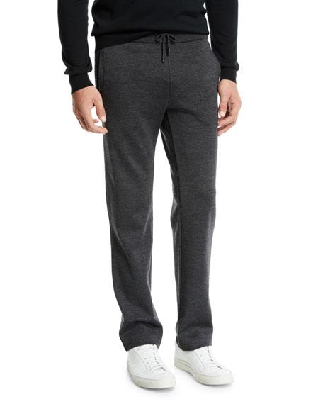 BRIONI Men'S Heathered Jersey Sweatpants in Gray